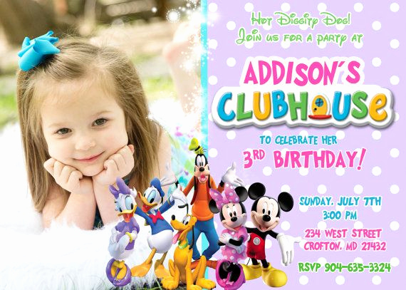 Mickey Mouse Clubhouse Invitations Beautiful Free Mickey Mouse Clubhouse Birthday Invitations to Make