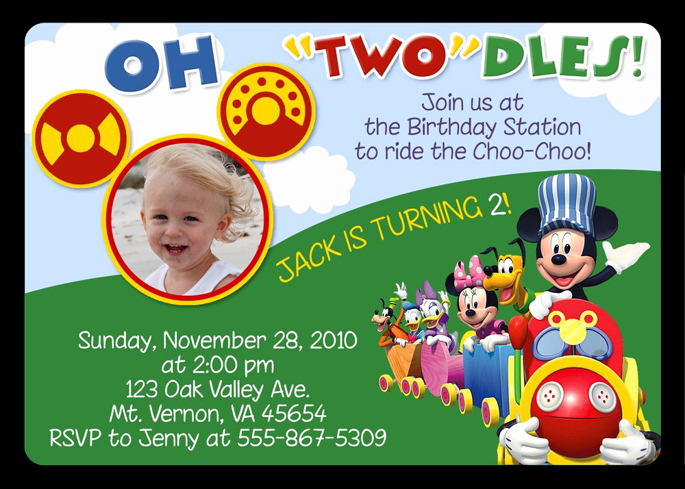 Mickey Mouse Clubhouse Invitations Best Of Mickey Mouse Invitations Birthday Party Invitations Invitation