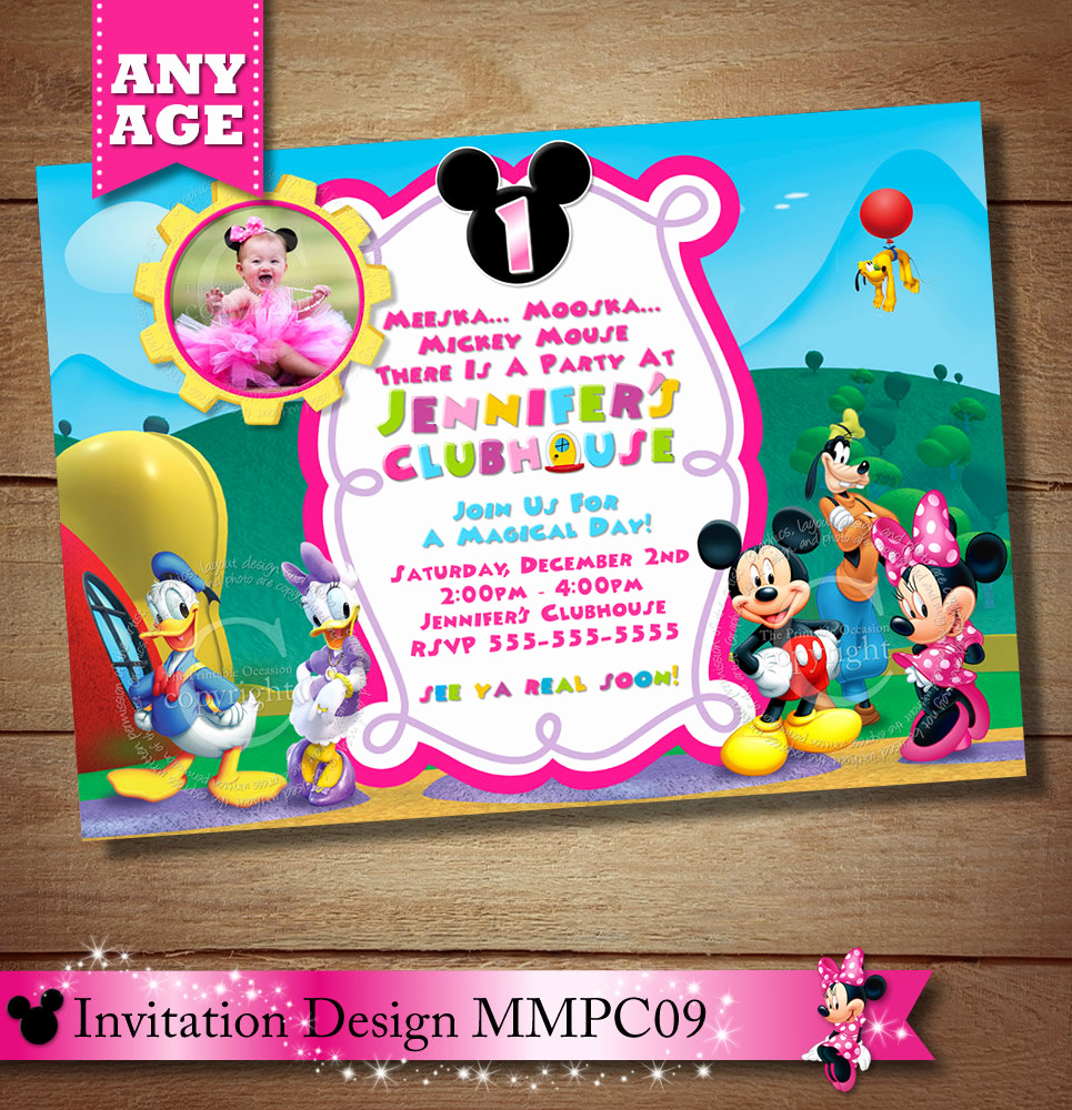 Mickey Mouse Clubhouse Invitations Fresh Huge Selection Mickey Minnie Mouse by theprintableoccasion