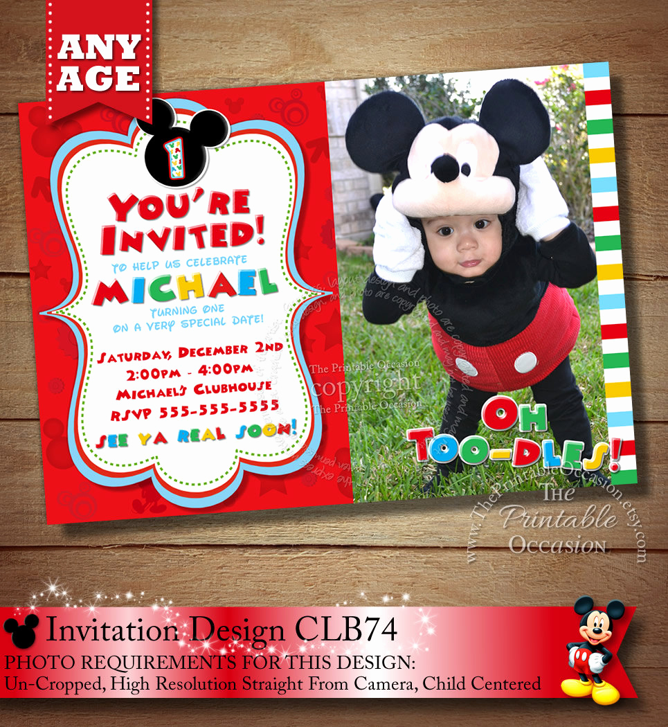 Mickey Mouse Clubhouse Invitations Fresh Huge Selection Mickey Mouse Invitation Red Yellow and Black