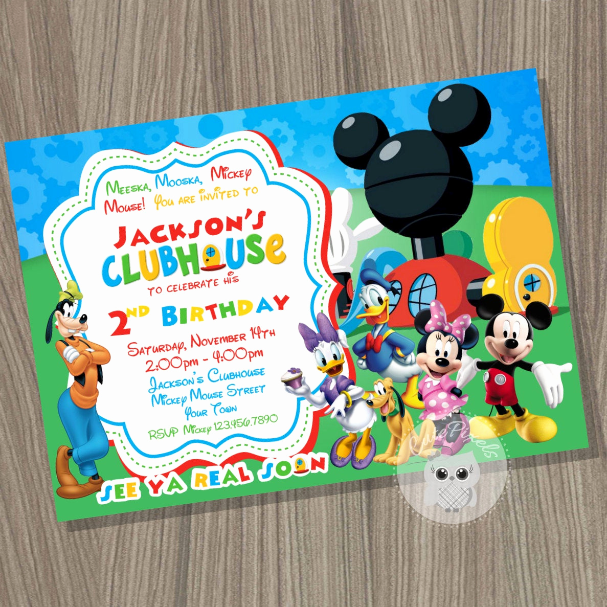Mickey Mouse Clubhouse Invitations Fresh Mickey Mouse Clubhouse Invitation Mickey Mouse by Cute