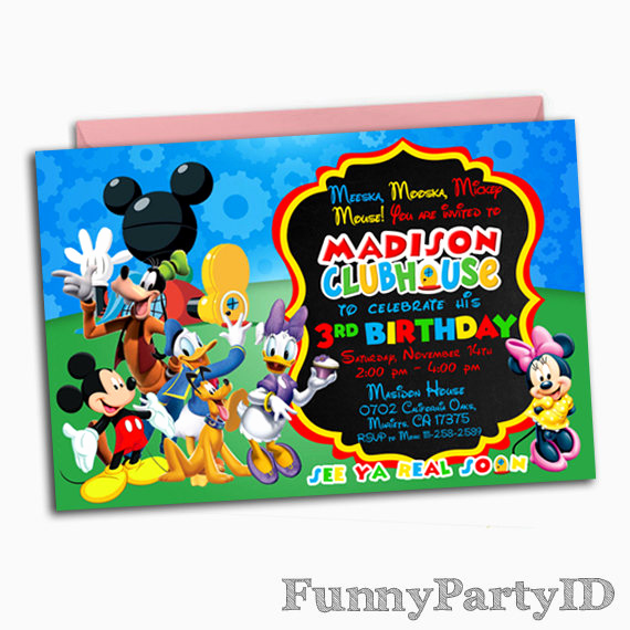 Mickey Mouse Clubhouse Invitations Fresh Mickey Mouse Clubhouse Invitation Mickey Mouse Clubhouse