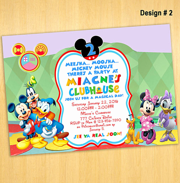 Mickey Mouse Clubhouse Invitations Fresh Mickey Mouse Invitation Template Free Download