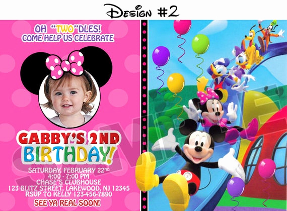 Mickey Mouse Clubhouse Invitations Luxury Mickey Mouse Clubhouse Birthday Party Invitations