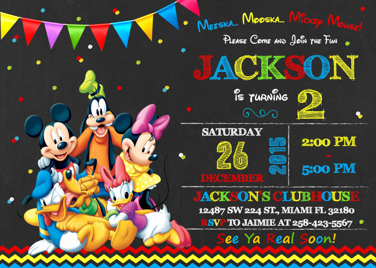 Mickey Mouse Clubhouse Invitations Luxury Mickey Mouse Clubhouse Invitation Birthday Mickey Mouse