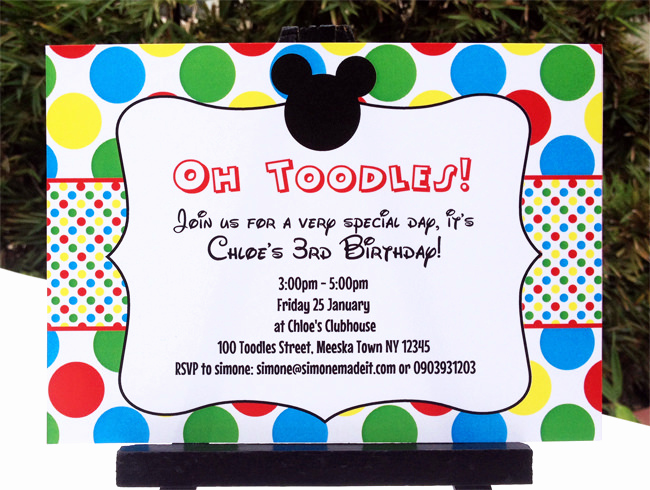 Mickey Mouse Clubhouse Invitations Luxury Mickey Mouse Clubhouse Printable Invitation & Party
