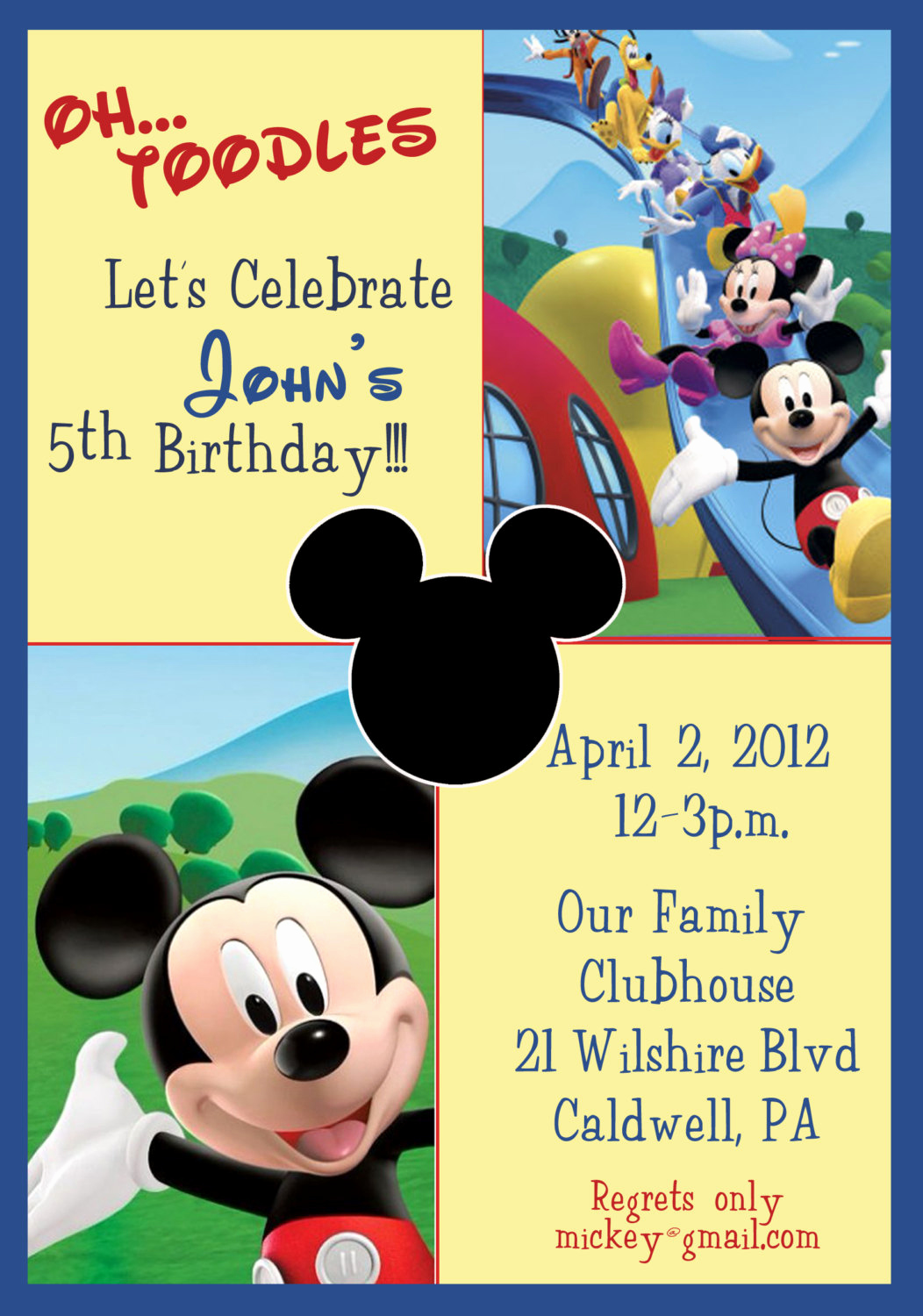 Mickey Mouse Clubhouse Invitations New Mickey Mouse Clubhouse Birthday Invitations Mickey Mouse