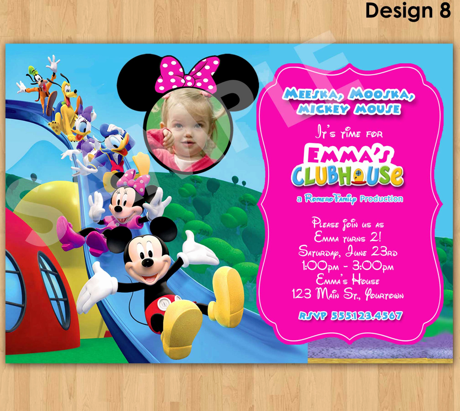minnie mouse invitation mickey mouse