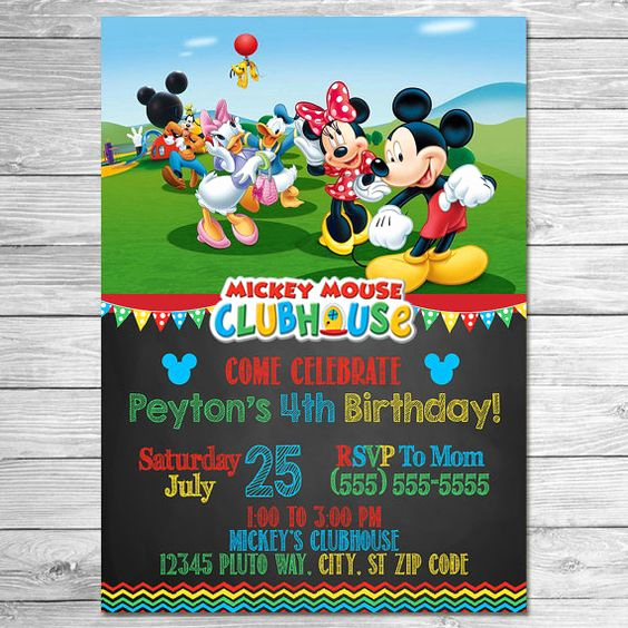 Mickey Mouse Clubhouse Invitations Unique Mickey Mouse Clubhouse Invitations Mickey Mouse Clubhouse