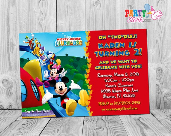 Mickey Mouse Clubhouse Invitations Unique Mickey Mouse Clubhouse Invitations Printable Personalized