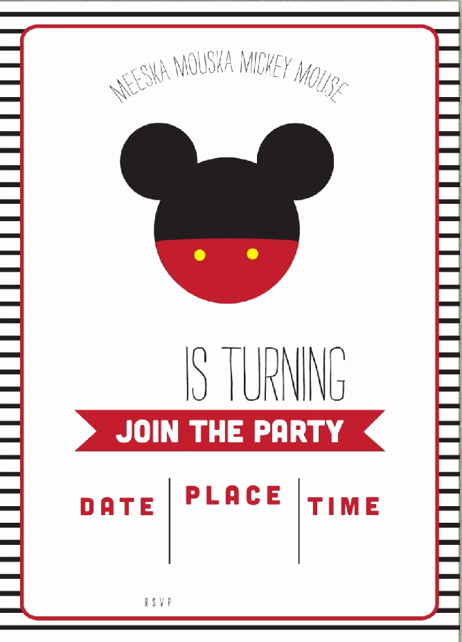 Mickey Mouse Invitation Template Best Of Free Mickey Mouse Clubhouse Birthday Invitations – Free
