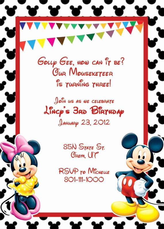 Mickey Mouse Invitation Template Best Of Items Similar to Mickey Mouse Printable Birthday Party