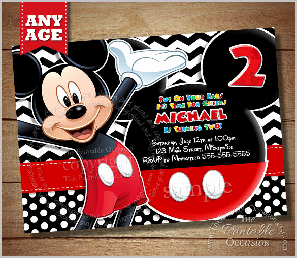 Mickey Mouse Invitation Template Elegant Mickey Mouse Invitation Templates – 26 Free Psd Vector