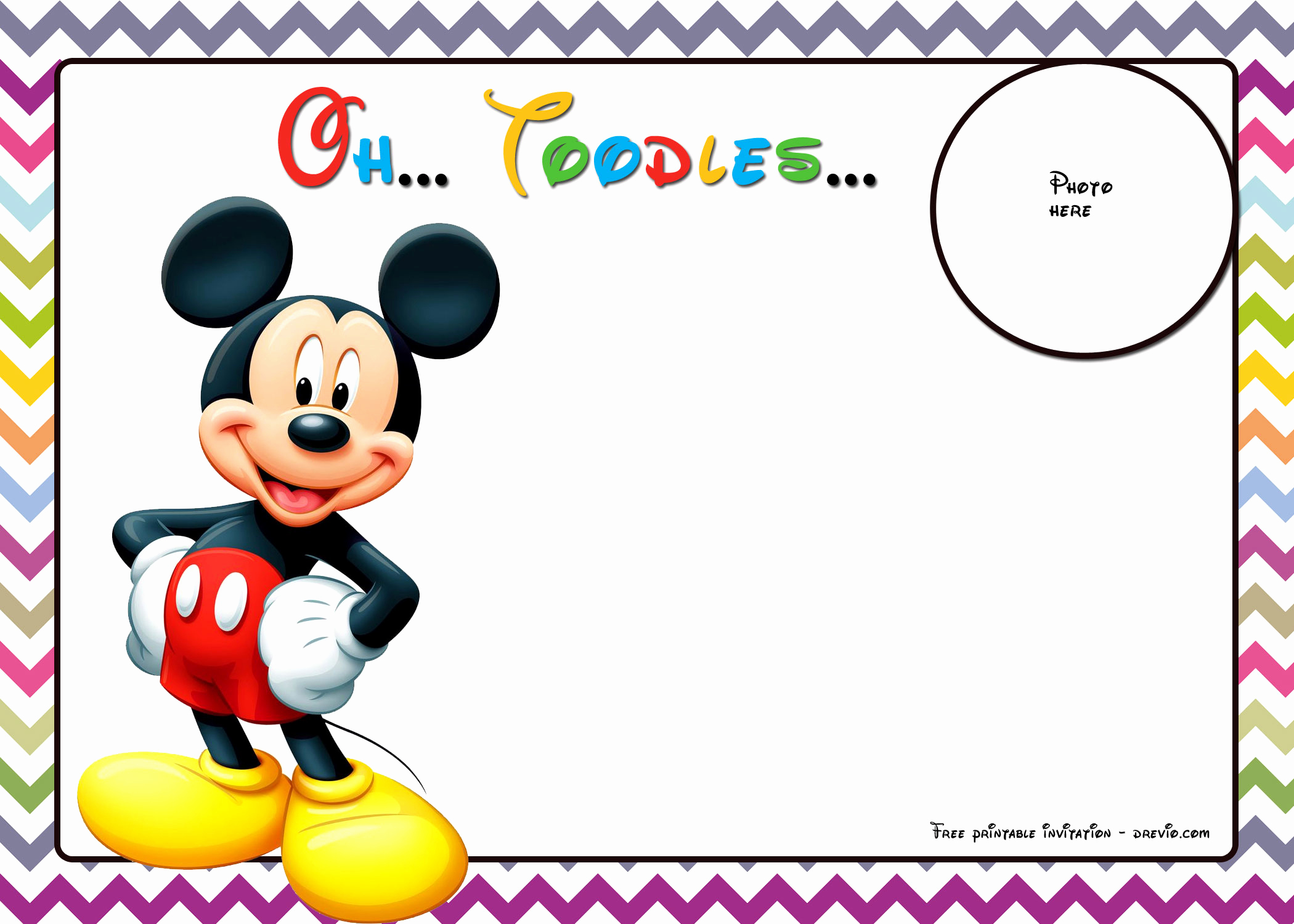 Mickey Mouse Invitation Template Fresh 25 Incredible Mickey Mouse Birthday Invitations