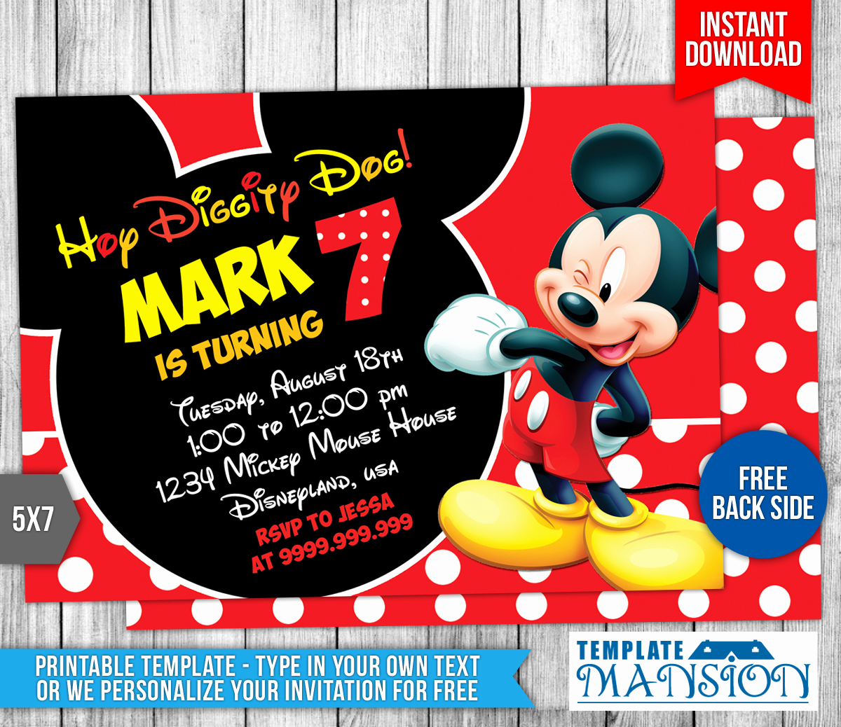 Mickey Mouse Invitation Template Fresh Mickey Mouse Birthday Invitation 4 by Templatemansion On