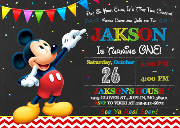 Mickey Mouse Invitation Template Lovely 30 Mickey Mouse Invitation Template