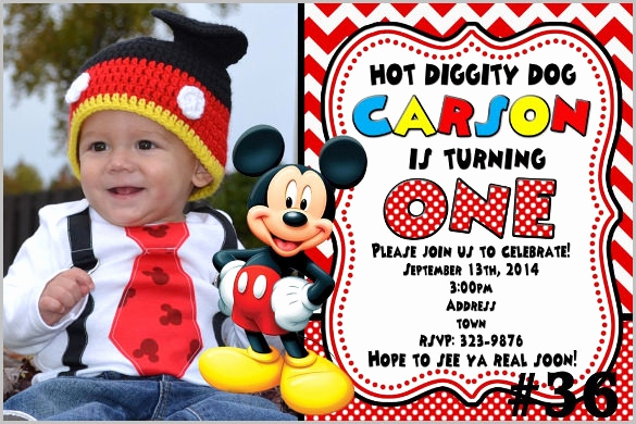 Mickey Mouse Invitation Template Lovely Mickey Mouse Invitation Template