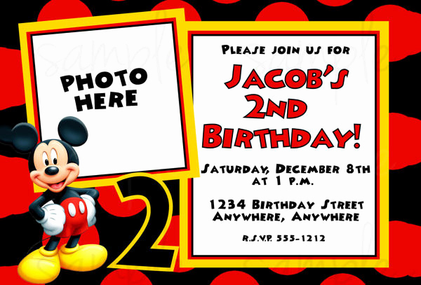 Mickey Mouse Invitation Template Lovely Mickey Mouse Invitation Templates – 26 Free Psd Vector