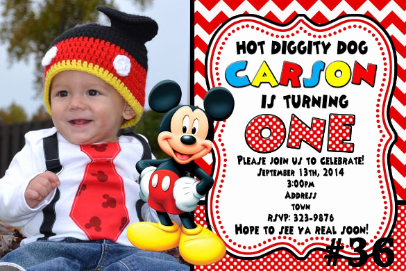 Mickey Mouse Invitation Template New 31 Mickey Mouse Invitation Templates Free Sample