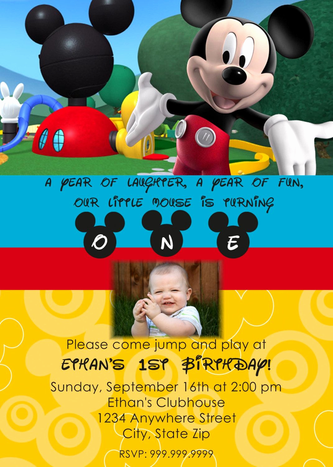 Mickey Mouse Invitation Template Unique Mickey Mouse Clubhouse Printable Invitations Template