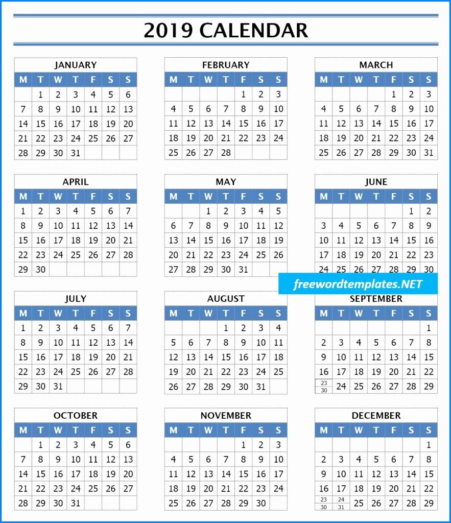 Microsoft Calendar Templates 2019 Awesome 2019 Calendar Templates