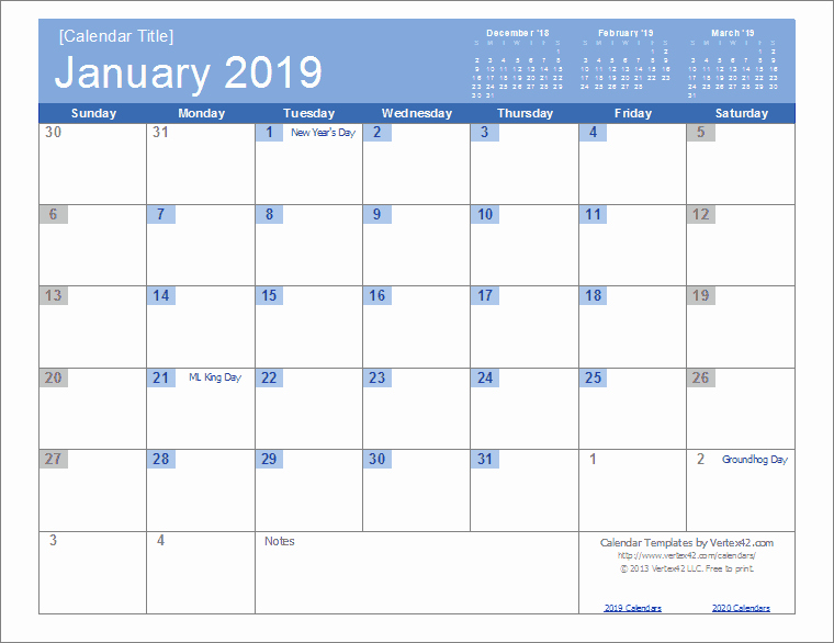Microsoft Calendar Templates 2019 Fresh 2019 Calendar Templates and