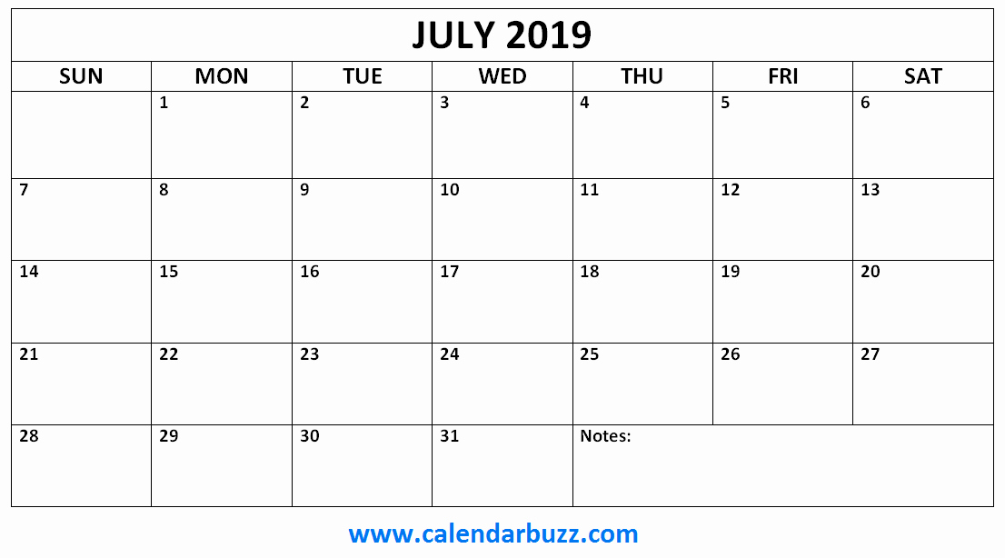 free 2019 printable monthly templates