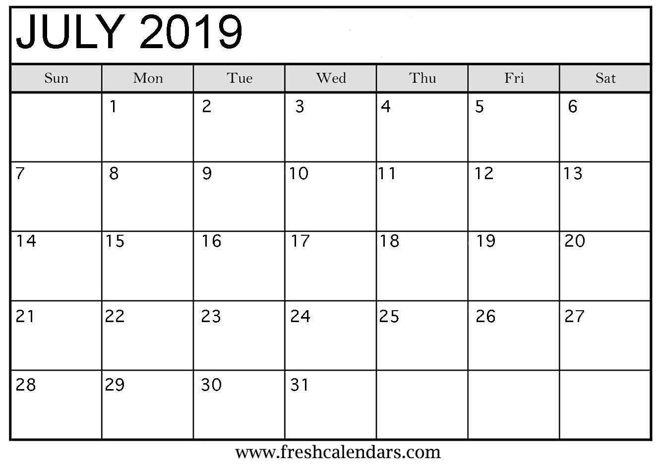 Microsoft Calendar Templates 2019 Inspirational July 2019 Calendar Printable Fresh Calendars