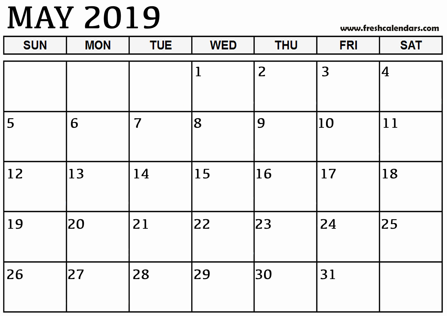 Microsoft Calendar Templates 2019 Lovely 15 Best May 2019 Calendar Printable Templates