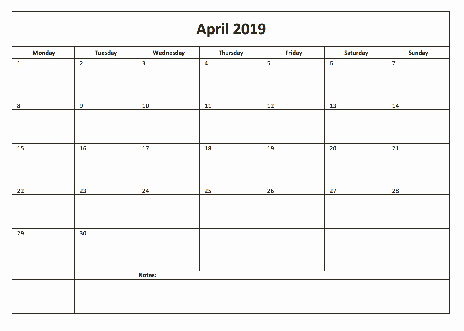 Microsoft Calendar Templates 2019 Luxury 2019
