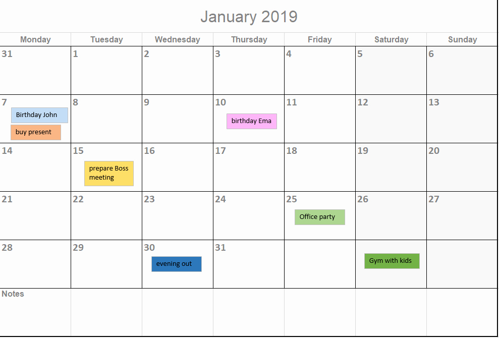 Microsoft Calendar Templates 2019 Unique 2019 Calendar Template for Excel by Excelmadeeasy