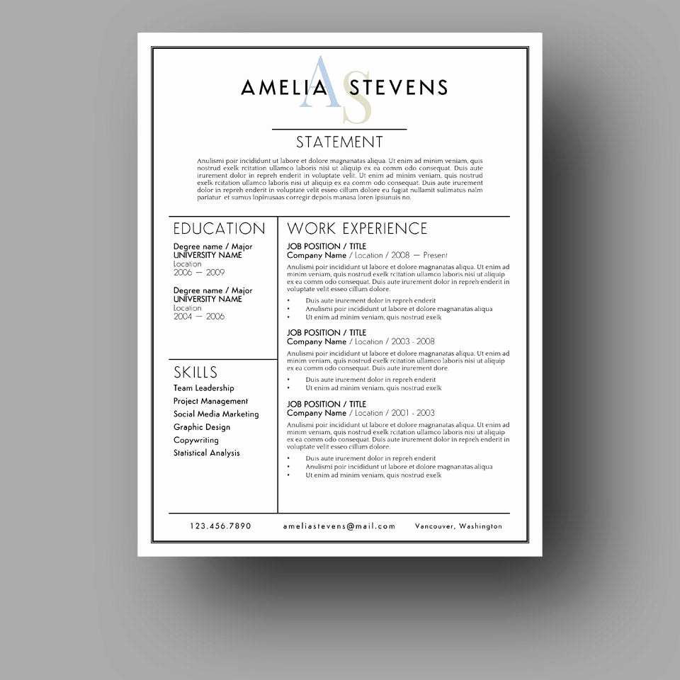 Microsoft Cover Letter Template Awesome Modern Resume Template Cover Letter Use with Microsoft