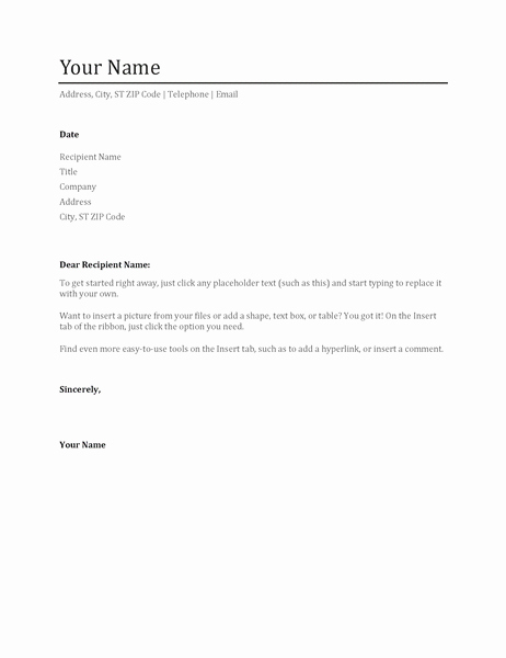Microsoft Cover Letter Template Fresh Microsoft Cover Letter Template