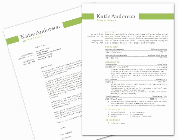 Microsoft Cover Letter Template New Modern Microsoft Word Resume and Cover Letter Template by