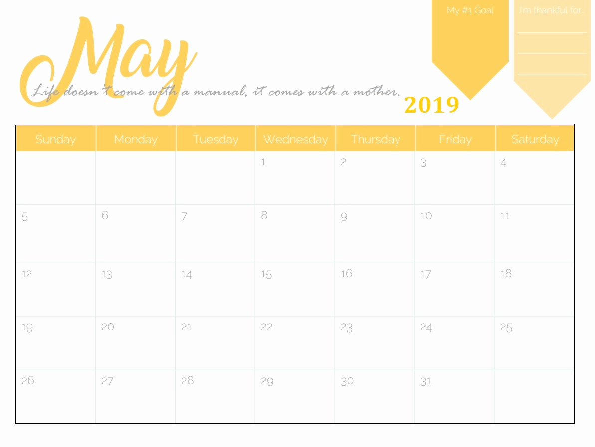 Microsoft Office Calendar Templates 2019 Awesome Free Printable 2019 Monthly Calendar