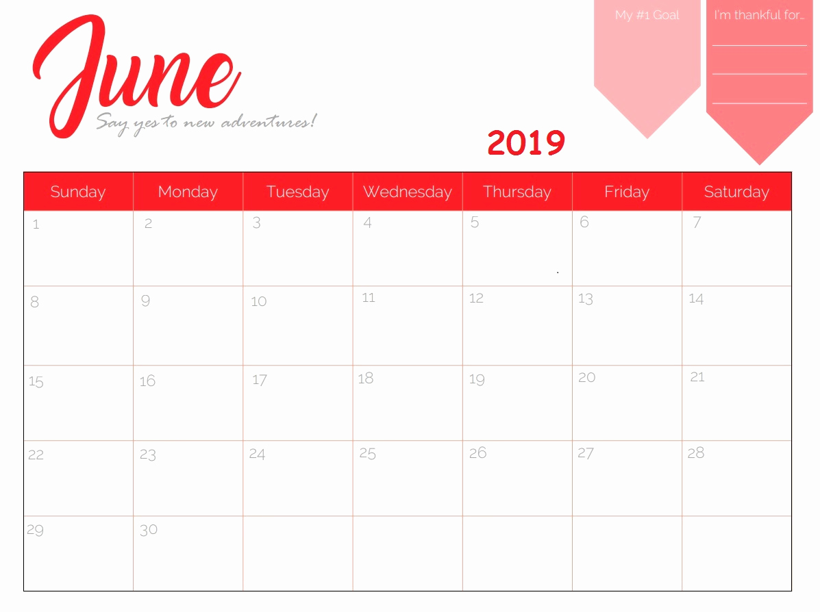 Microsoft Office Calendar Templates 2019 New Free Printable 2019 Monthly Calendar