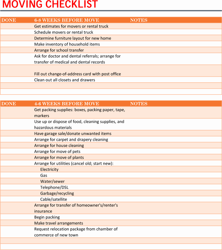 Microsoft Office Check Template Awesome 5 Moving Checklist Templates for Excel Word Ultimate Guide