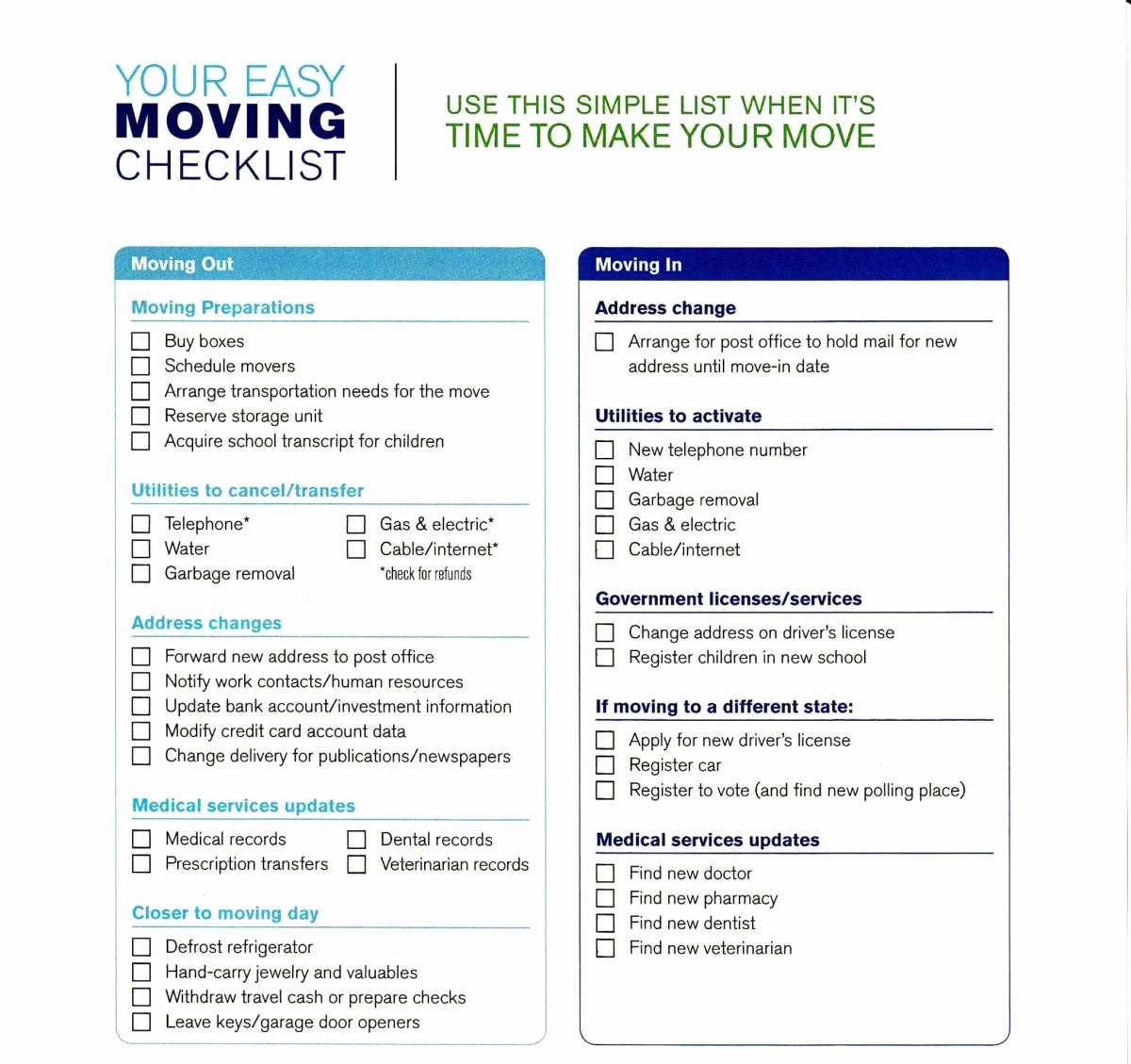 Microsoft Office Check Template Beautiful 5 Moving Checklist Templates – Word Templates