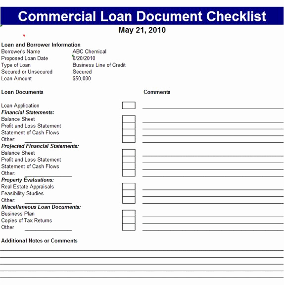 Microsoft Office Check Template Best Of Mercial Loan Document Checklist Template