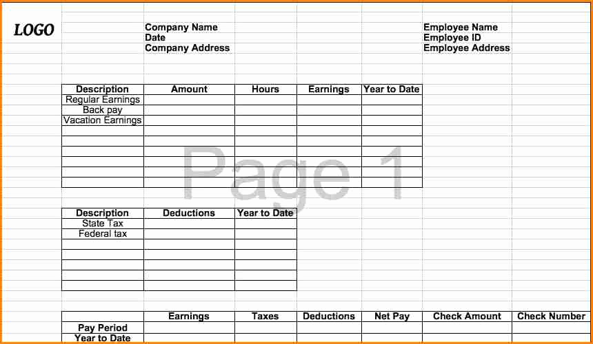 Microsoft Office Check Template Luxury 6 Pay Stub Template Microsoft Office