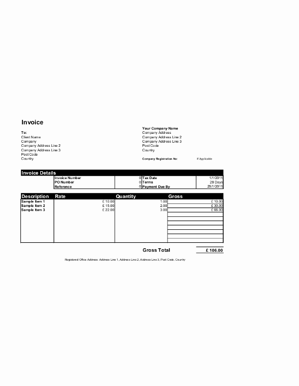 Microsoft Office Invoice Template Best Of Free Invoice Templates for Word Excel Open Fice