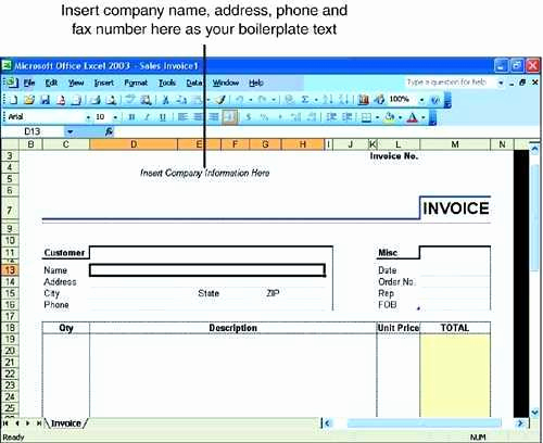 Microsoft Office Invoice Template Fresh Template