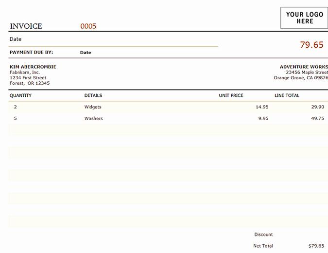 Microsoft Office Invoice Template Unique Invoices Fice