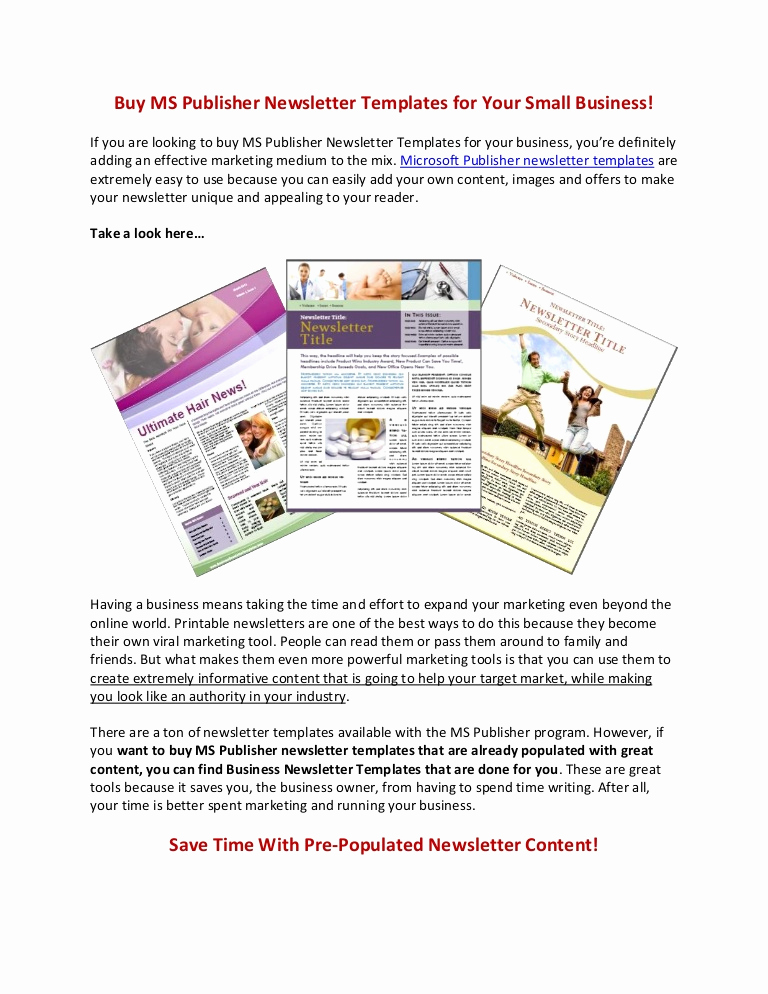 Microsoft Publisher Newsletter Templates Awesome Buy Ms Publisher Newsletter Templates