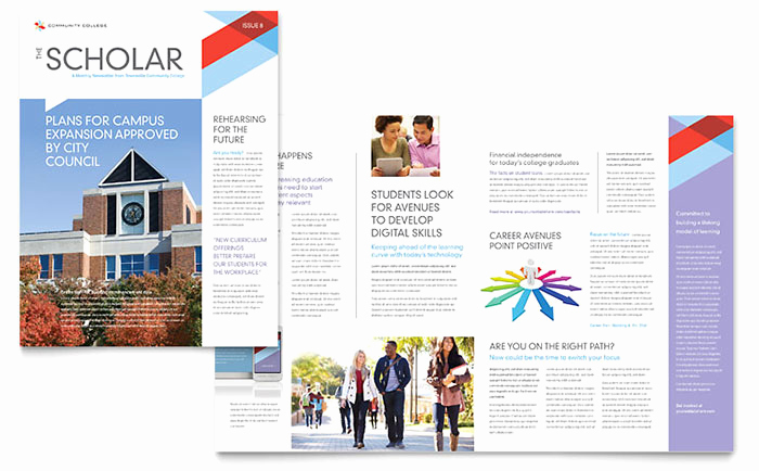 Microsoft Publisher Newsletter Templates Awesome Munity College Newsletter Template Word & Publisher