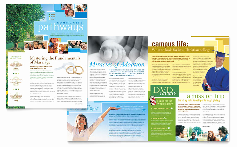 Microsoft Publisher Newsletter Templates Elegant Munity Church Newsletter Template Word & Publisher