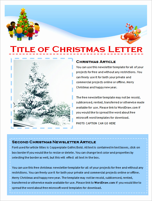 Microsoft Publisher Newsletter Templates Lovely 9 Holiday Newsletter Templates – Free Word Documents