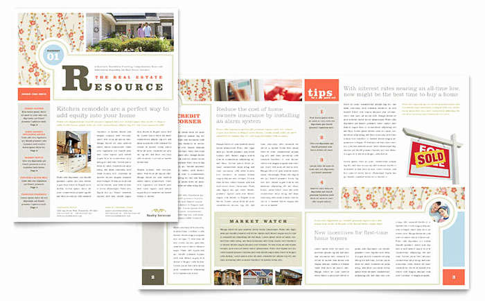 Microsoft Publisher Newsletter Templates Lovely Real Estate Home for Sale Newsletter Template Design