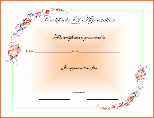 Microsoft Word Certificate Template Beautiful 7 Ms Word Certificate Template Bookletemplate