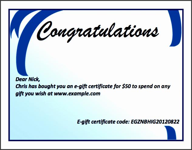 Microsoft Word Certificate Template Fresh 8 Gift Certificate Template In Word Sampletemplatess